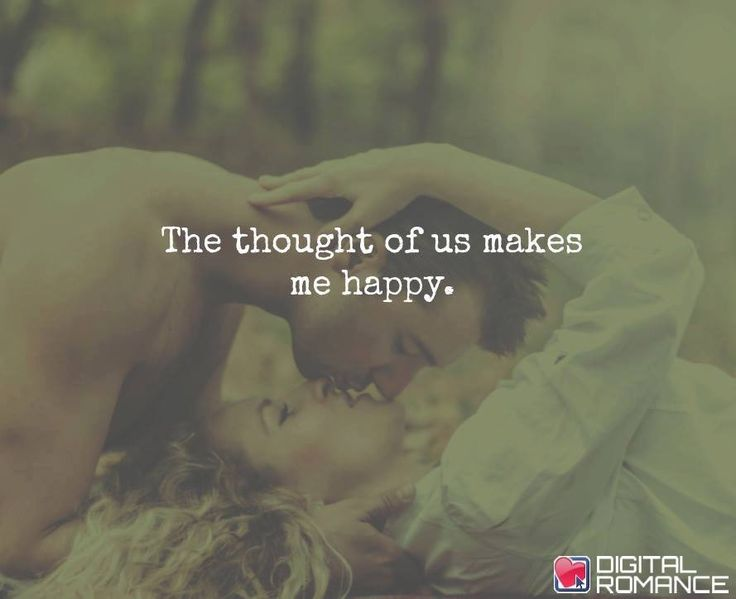 The Thought Of Us Makes Me Happy.