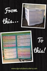 Natalie Snyders, SLP: Plastic Drawer Makeover for the Classroom