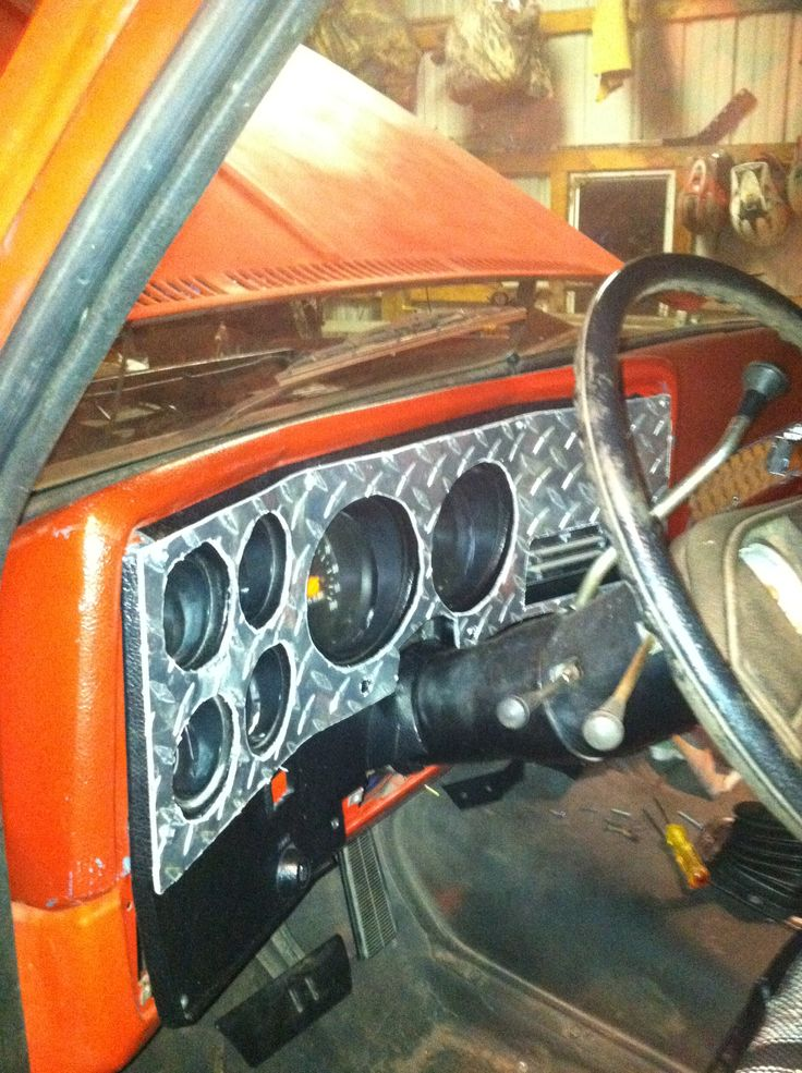 73 Chevy Diamond Plate Dash Offroad Vehicle Pinterest
