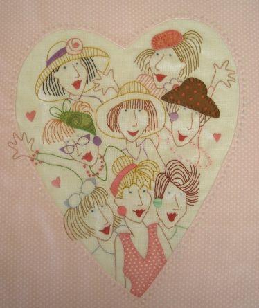 Block 7 - Heartful of Friends by Fiona Marie Clark, via Flickr