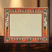 Madhubani photo frame, 'Village in India' (5x7) from @NOVICA, They help #artisans succeed worldwide.