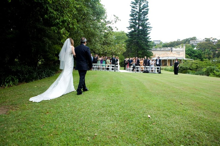 Ceremony on the Lawns, reception at Vaucluse House Tearooms