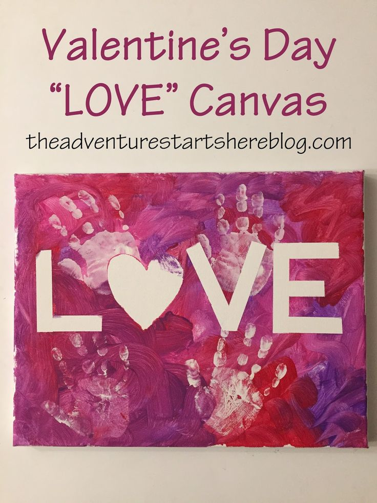 "The Adventure Starts Here: Toddler Crafts | Valentine's Day ""LOVE"" Canvas"