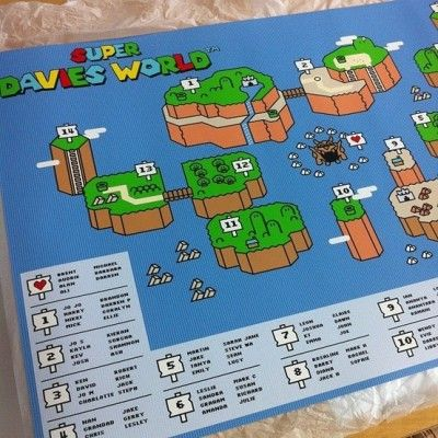 Super Mario Wedding Seating Plan. Oh my goodness, that's amazing