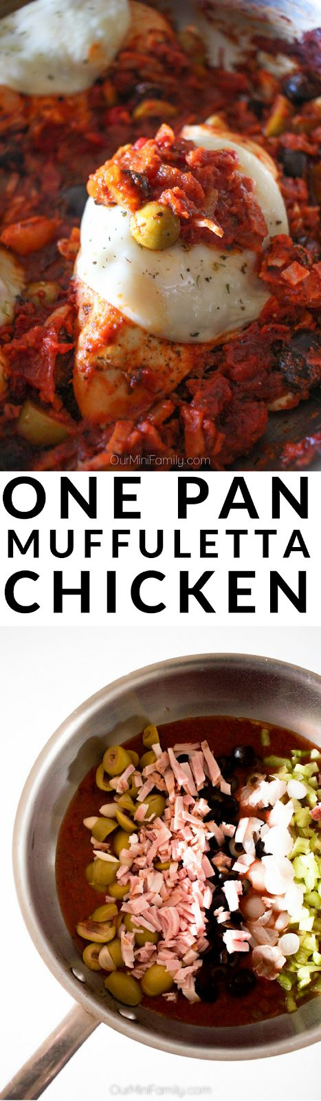 Try this one pan muffuletta chicken recipe inspired by the New Orleans classic sandwich! ad