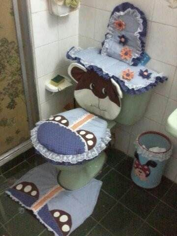 juegos de baño hechos en tela de algodon
