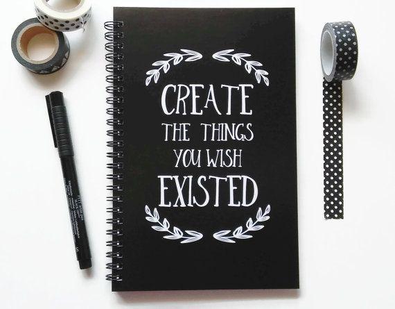 Tagebuch schreiben, Spiralblock, Kugel Journal, schwarz und weiß, Skizzenbuch, Gitter Liniertes Papier - erstellen der Dinge, die Sie wünschte, gab es
