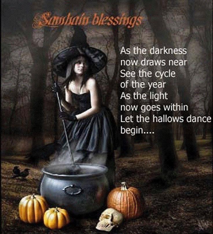 The closing of autumn draws very near, Samhain will bring