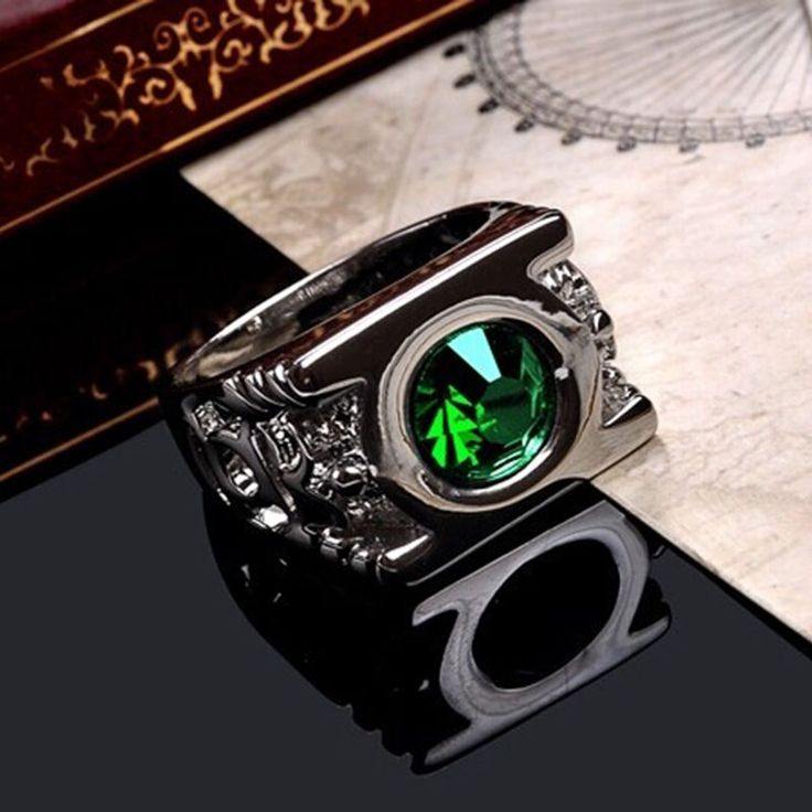 New Fashion Crystal Green Lantern Ring Super Hero Power Men Party Rings Jewelry #Unbranded