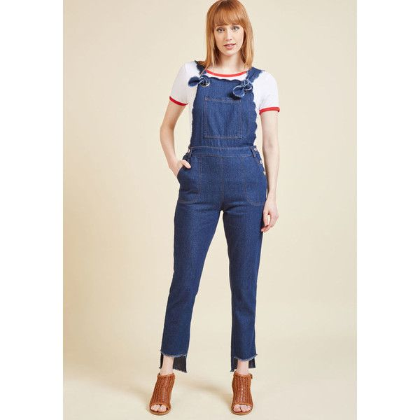 A Rustic Reimagining Overalls ($100) ❤ liked on Polyvore featuring jumpsuits, apparel, bottoms, denim pant, skinny denim pant, varies, denim jumpsuit, dark wash skinny jeans, overalls skinny jeans and denim bib overalls