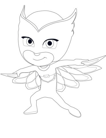 Owlette from PJ Masks coloring page from PJ Masks category ...