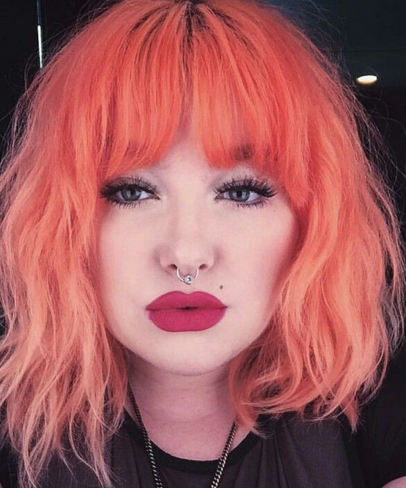 Orange dyed hair color @arcticfoxhaircolor                              …