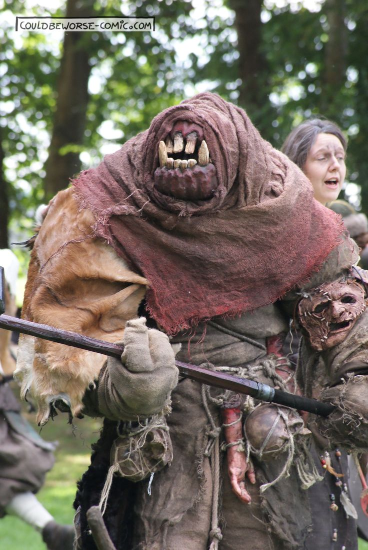 Larp Troll monster Costume, couldbeworse-comic.com,  Fantasy mythology