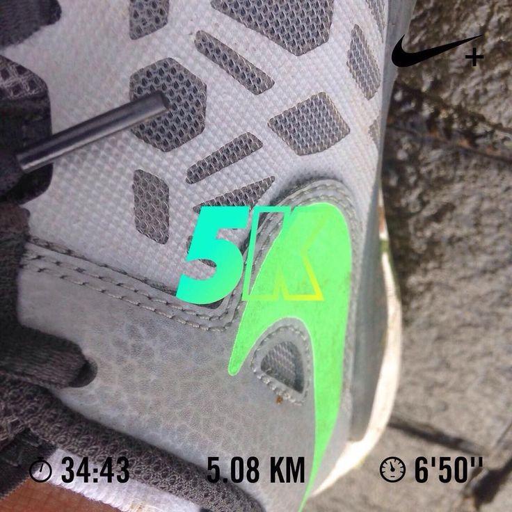 Ran 5.08 kilometers with Nike Run Club #JustDoIt. A little pace increase. #