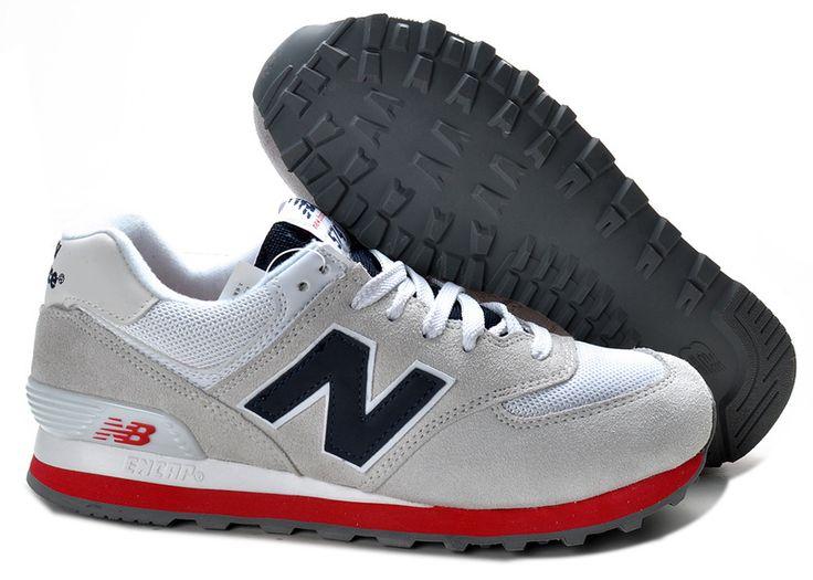 New Balance Grey Red