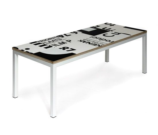 Side Table made of billboards | Salontafel gemaakt van reclameborden of bouwborden | Dutch design