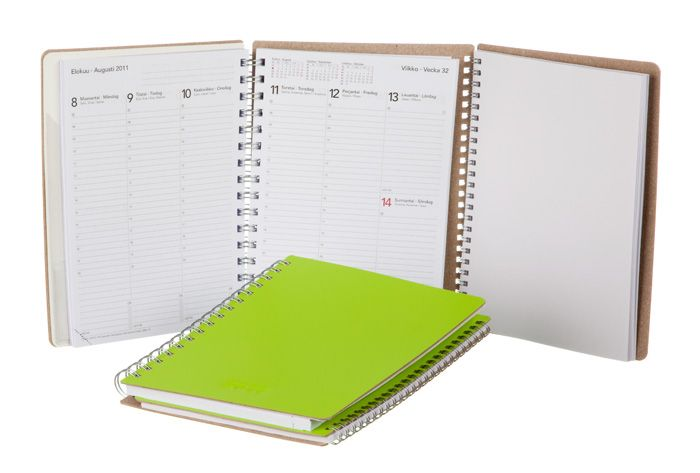 Private Case innovation for calendars! This calendar is really cool: it folds in many different ways and has a notebook as well. Made in Finland.