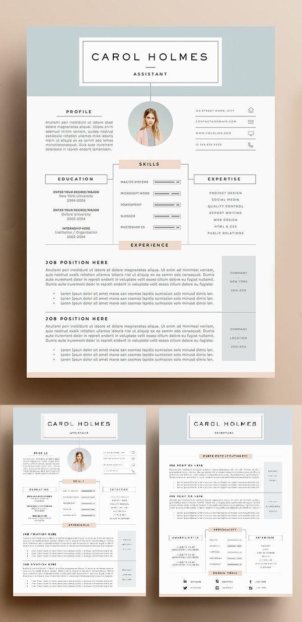 resume template 5 pages resume design pinterest resume