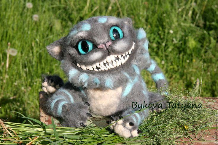 Купить Чеширский кот валяный - чеширский, кот, улыбка, кот чеширский валяный…