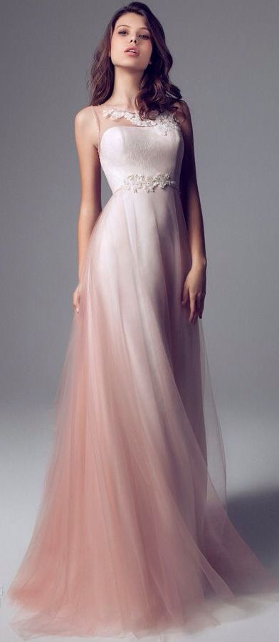 147 best images about peach blush wedding inspiration on for Peach dresses for wedding