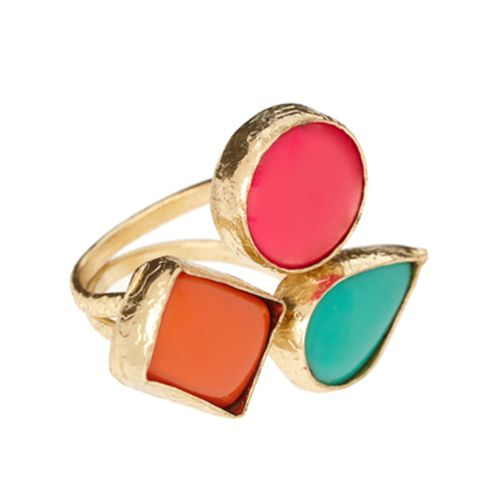 Rings: Colors Rings, Statement Rings, Colors Combos, Cocktails Rings, Spring Colors, Clothing Accessories, Stones Cocktails, Gold Rings, Colors Together