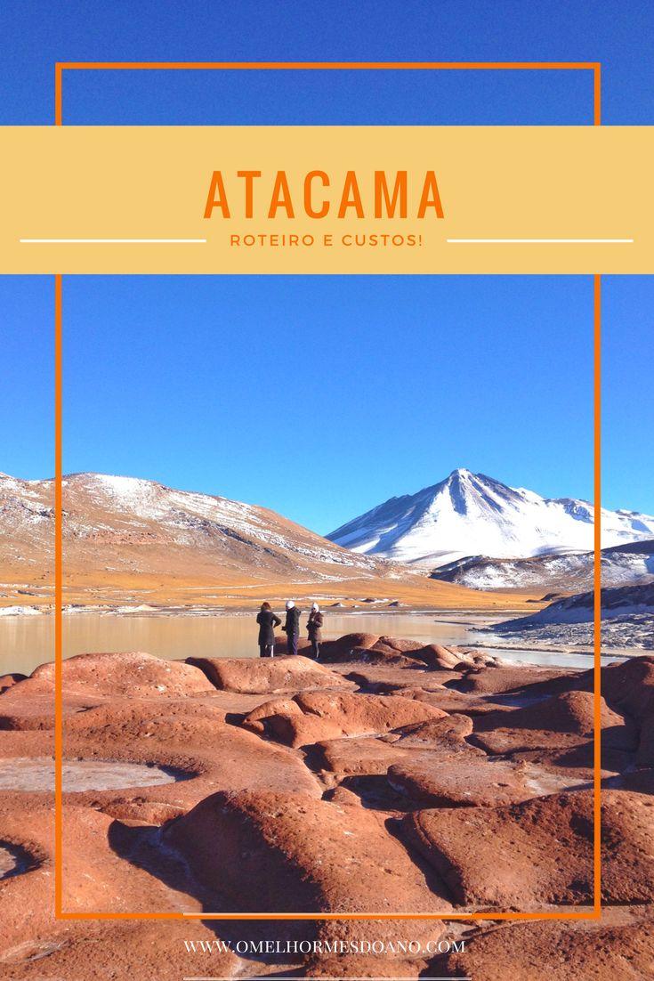 Passeios, horários, agências, preços de entradas... todas as informações para montar o seu roteiro para conhecer o Deserto do Atacama. Na foto, Piedras Rojas, um dos passeios mais lindos que mistura vulcões nevados, lagos azuis e as rochas vulcânicas vermelhas.