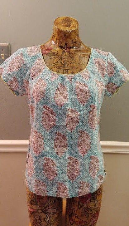78c4b6af483 ANOKHI shirt medium top short sleeve #Anokhi #Blouse | style ideas ...