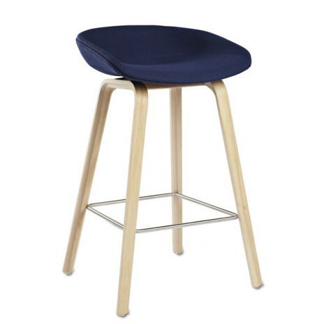 ABOUT A STOOL By HAY   Ref. AAS33   Wooden Base, Seat In Fabric