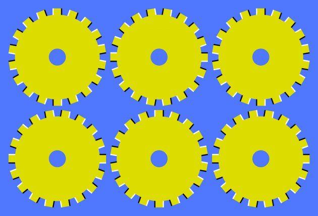 оптические иллюзии: шестеренки