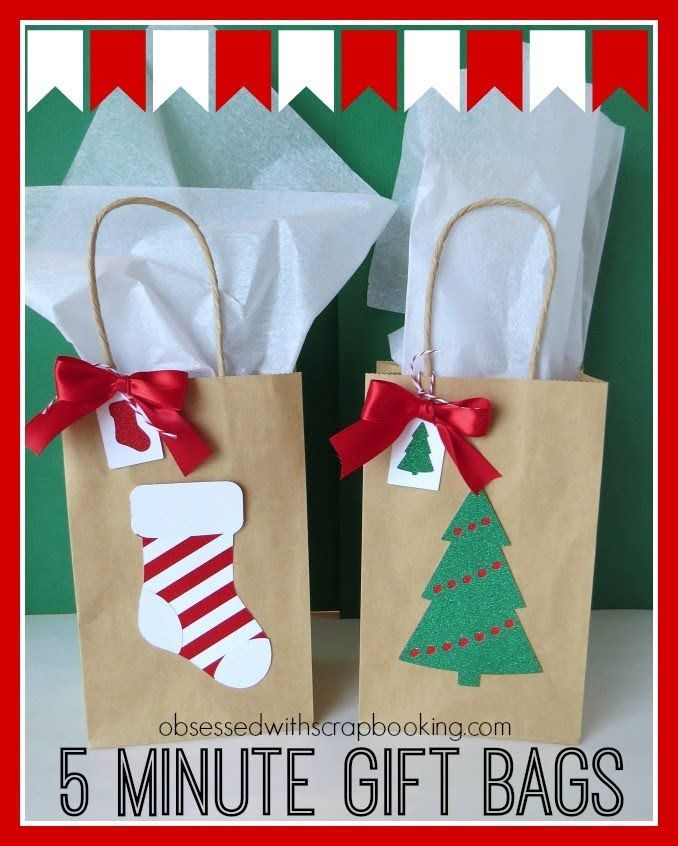Cricut Christmas Crafts Part - 15: CTMH Close To My Heart Art Philosophy 5 Minute Holiday Christmas Gift Bags