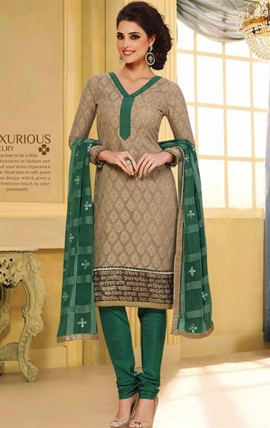 Picture of Plushy Beige Color Casual Salwar Suit