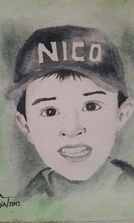 Nico. Acrilico por Willan León año 2012