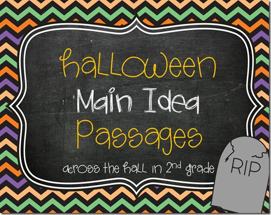 Halloween Main Idea Passages: FREE!