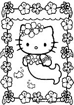 coloring picture hello kitty hello kitty mermaid