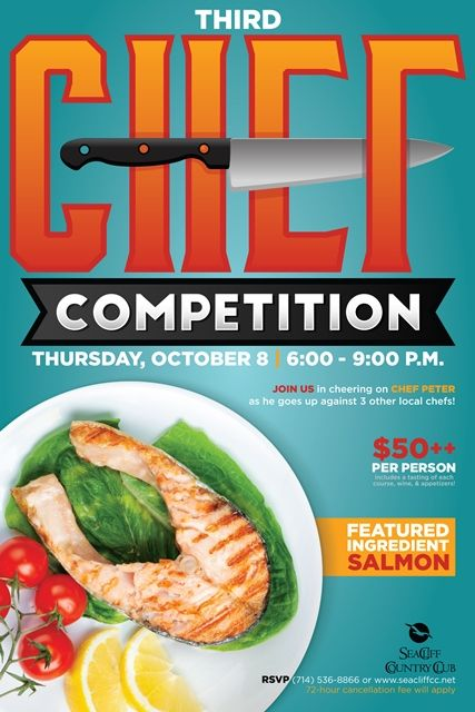 chef competition flyer poster design template