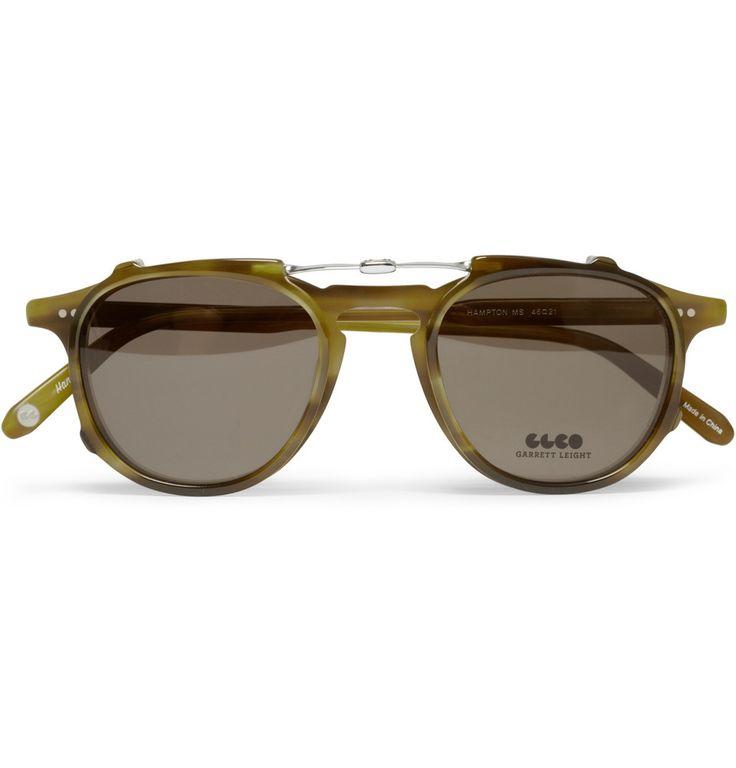 d991935135e04 Garrett Leight California Optical Hampton Detachable Front Acetate Glasses    MR PORTER