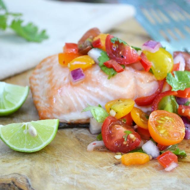 grilled salmon with chunky cherry tomato salsa cherry tomato salsa ...
