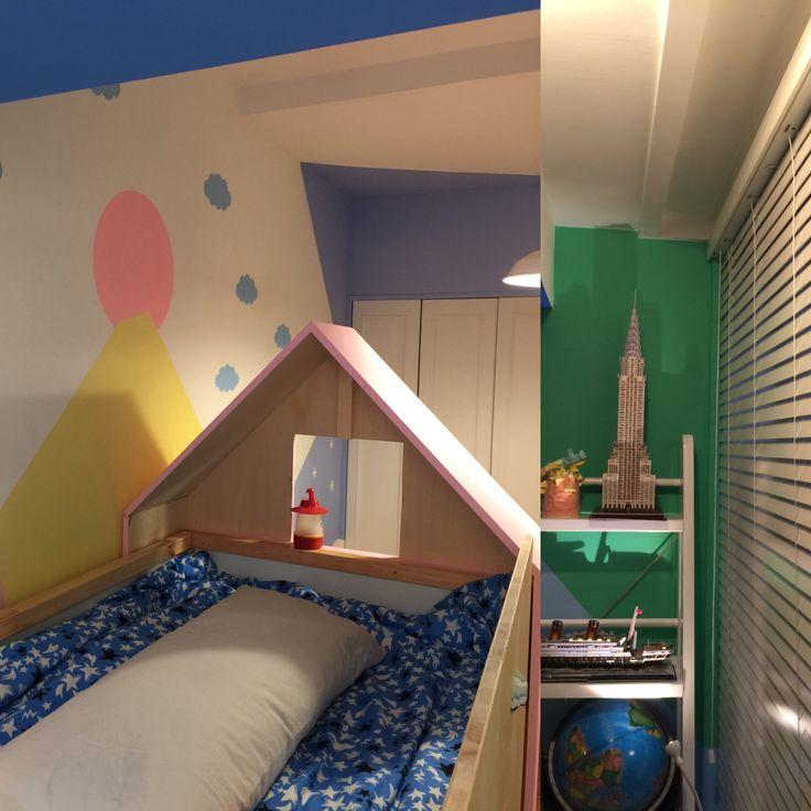 Ryusei's bed 夢みたいな子供部屋をつくってみた!
