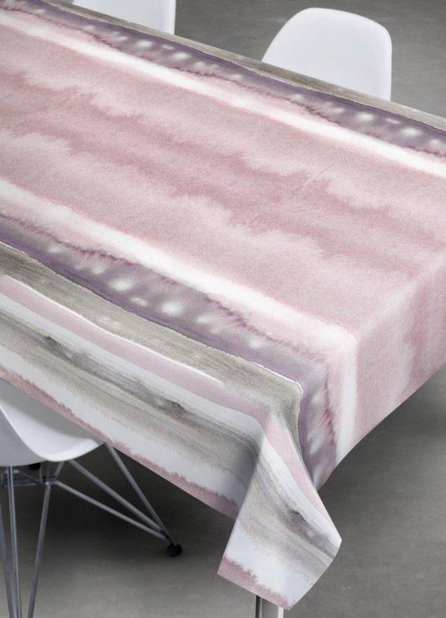Sødahl akryldug med antiskrid, Aqua Lines rose
