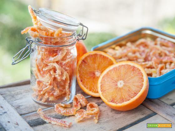 Scorzette di arancia caramellate  #ricette #food #recipes
