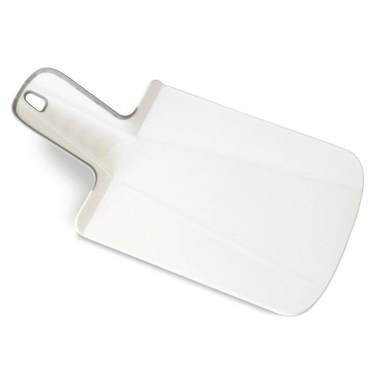Joseph Joseph Chop2Pot Plus Foldable Plastic Cutting Board & Kitchen Prep Mat, Mini, White