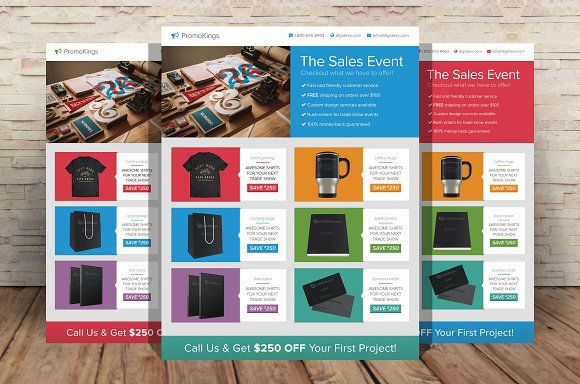 Promotion Marketing Flyers by Creativenauts on @creativemarket