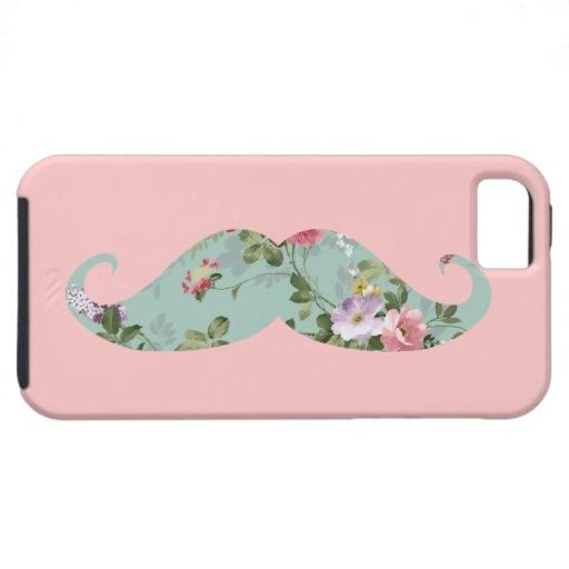 lovely moustache phone case