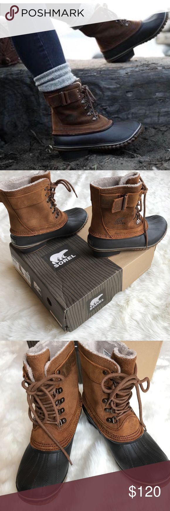 Sorel Winter Fancy Lace II Boot Size 6.5 in the color Elk, Grizzly Bear  Stylish but warm and cozy waterproof Sorel boots. I love how well built they are and the beautiful design but I haven't worn them much living in Texas  Worn once or twice and comes with original box Sorel Shoes Winter & Rain Boots