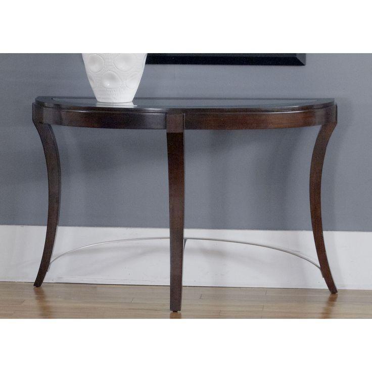 Liberty Dark Truffle Glass Top Oval Sofa Table