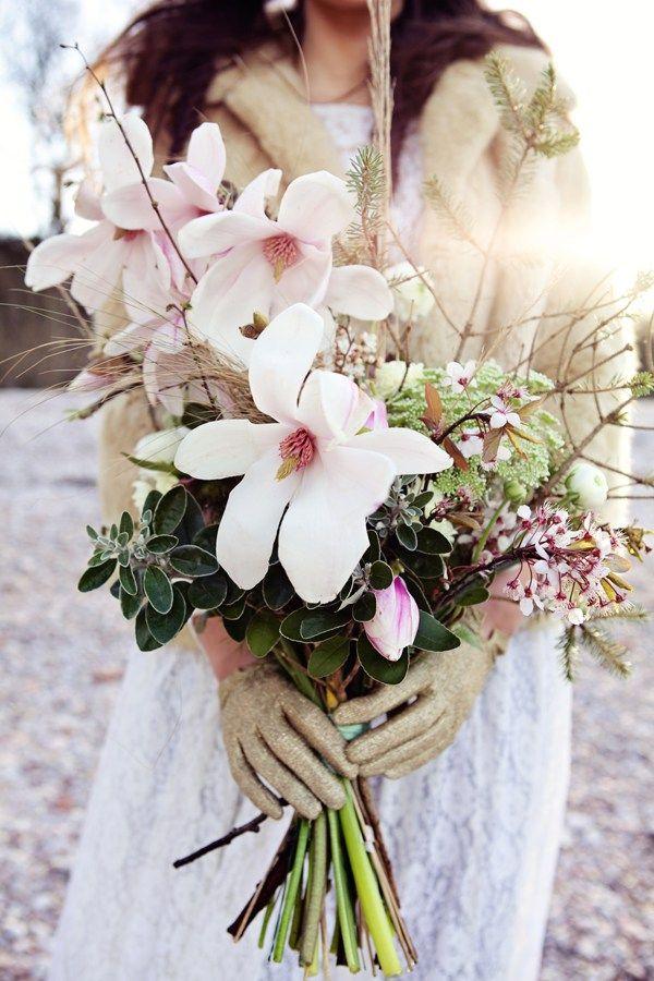 Dreamy Mermaid Wedding Ideas Magnolia Bouquet Bridal Wild http://elizabetharmitage.com/