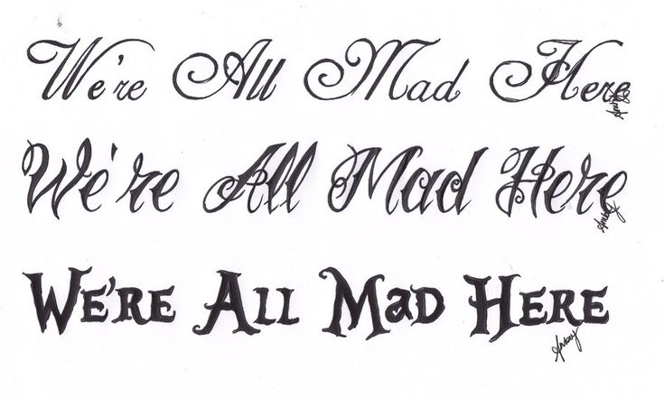 we're all mad here tattoo - Google Search