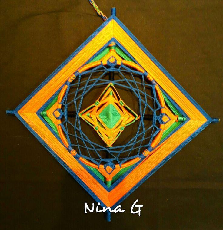 Mandala Ojo de Dios fusión.