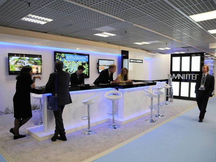 Stand MNIITEP on MIPIM 2014 Cannes #gc_granat #exhibitionbooth #buildup #design #exhibitions #europeanexhibition