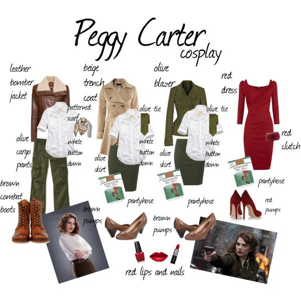 peggy carter cosplay by pashmina811 on Polyvore featuring Donna Karan, Hollister Co., McQ by Alexander McQueen, MANGO, Vero Moda, Berkshire, Frye, Gianvito Rossi, Diane Von Furstenberg and Brooks Brothers